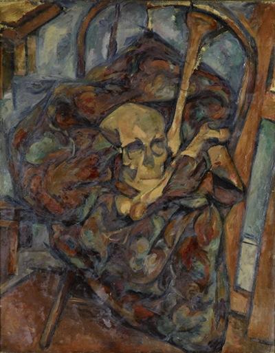 "Arshile Gorki, ""Still Life with Skull, oil on canvas, c. 1927."